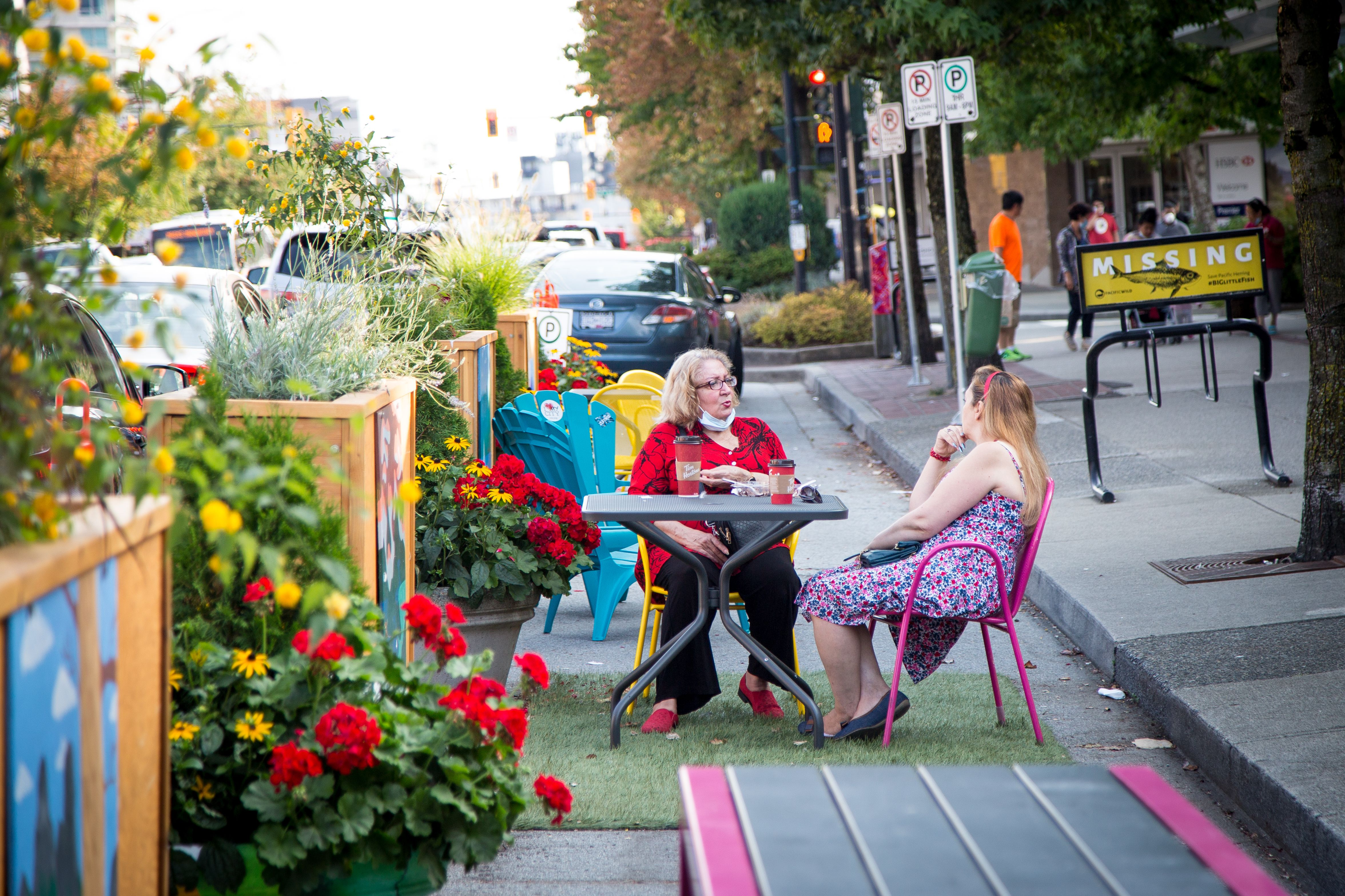 16th West Parklet. Credit: City of North Vancouver