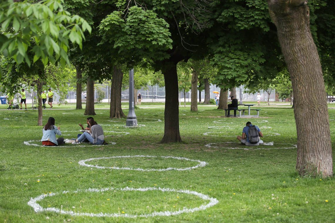 Park circles. Credit: Steve Russell, Toronto Star via Getty Images.