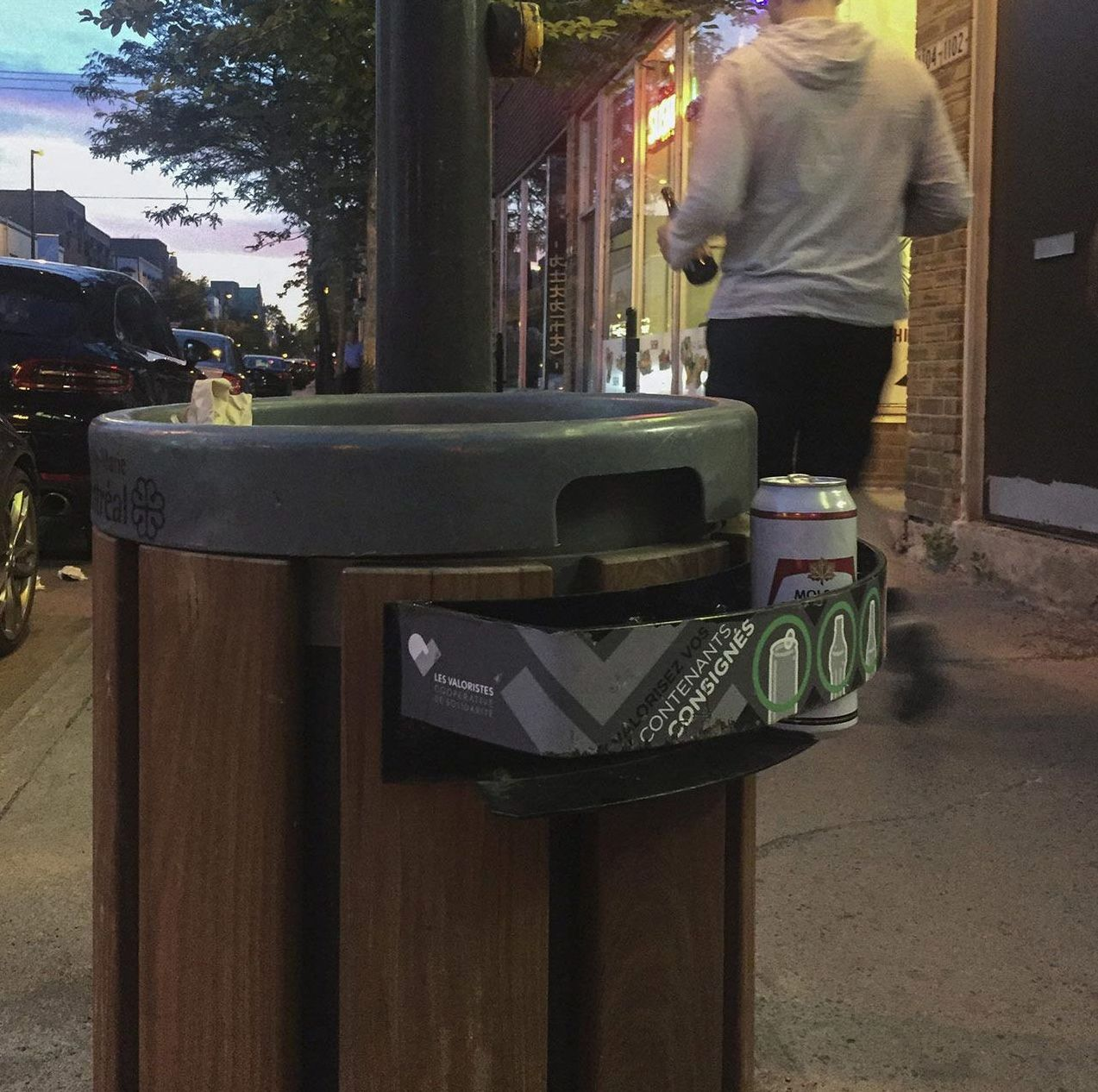 Participatory waste bin in Montreal. Credit: Coop Les Valoristes