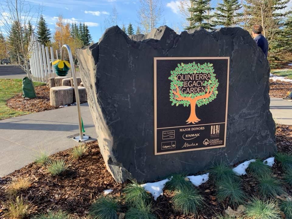 Quinterra Legacy Garden in Calgary. Credit: Parks Foundation Calgary